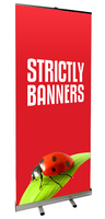 Economy Pull up/Roller Banner 800mm PVC print & bag