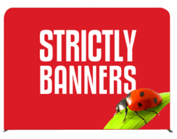 Tube Frame Banner Wall - 2.4m wide double sided print